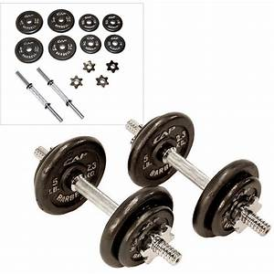 Cap Barbell 40 Lb  Adjustable Dumbbell Set With Case