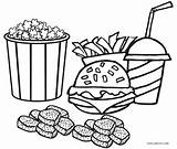 Coloring Food Pages Junk Printable Cool2bkids sketch template