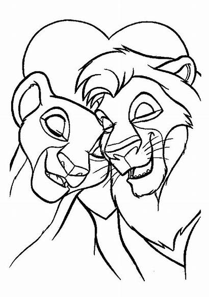 Coloring Pages Disney Cartoon Printable Lion Sheets