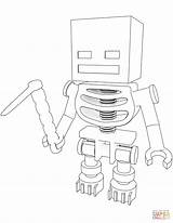 Coloring Skeleton Minecraft Hoe Printable Paper Drawing Dot Crafts sketch template