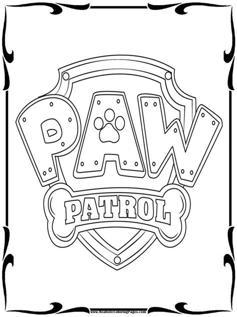 Kleurplaat Paw Patrol Logo by Paw Patrol Badges Coloring Pages Realistic Coloring Pages