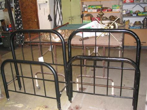 Metal Headboards For Sale by Pair Of Vintage Metal Beds For Sale Antiques