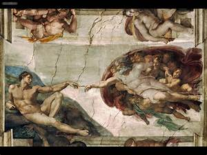 Drawing & Painting: The Creation of Adam by Michelangelo ...