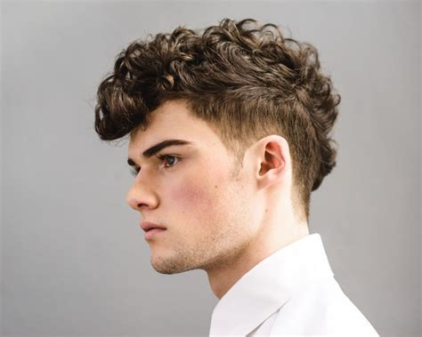 hairstyle  curly dry hair male hair