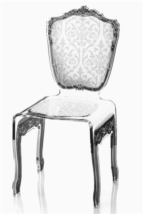 chaise en plexi chaise baroque plexiglas motif blanc acrila spécialiste