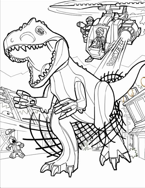 Lego Coloring Pages Jurassic World Printables