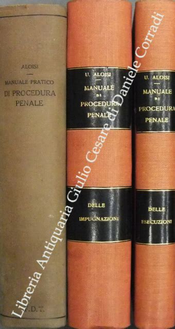 libreria giulio cesare manuale pratico di procedura penale libreria antiquaria