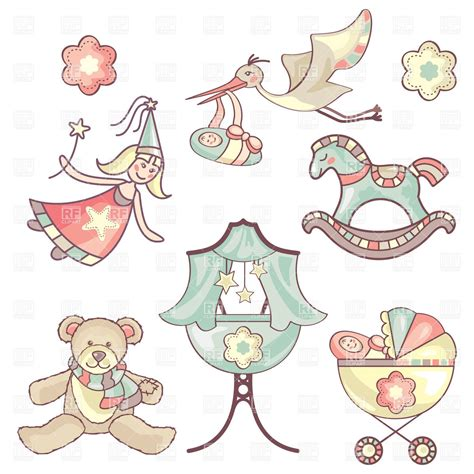 baby toys  childhood symbols vector image vector