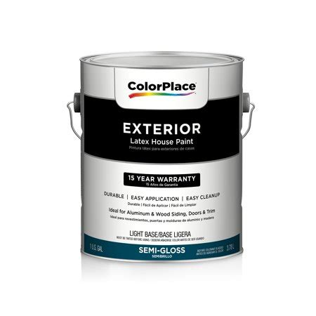 color place exterior gloss paint light base walmart com