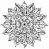 Mandala Coloring Floral Printable Mandalas Sheets Lotus Colouring Drawing Welshpixie Deviantart Henna sketch template