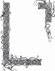 Illuminated Manuscript Borders Vines Celtic knot vines ...