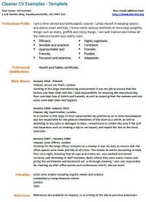 cv exles cleaner cv exles cv info
