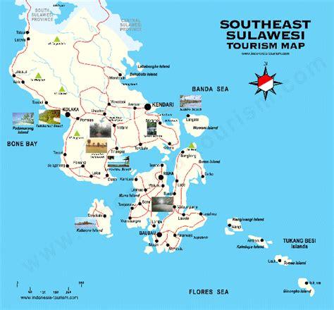 sulawesi tenggara pulau sulawesi peta beautiful