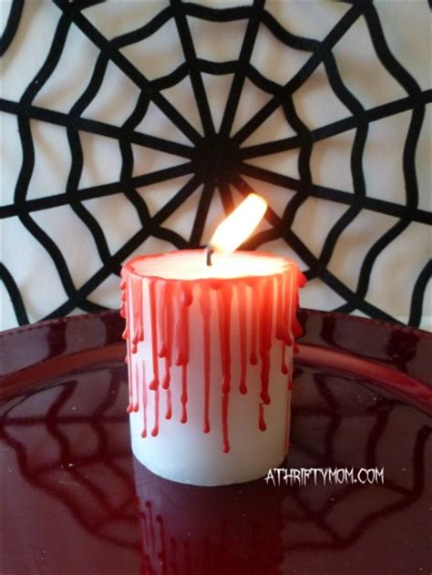 spooky halloween candles thrifty holiday decorating