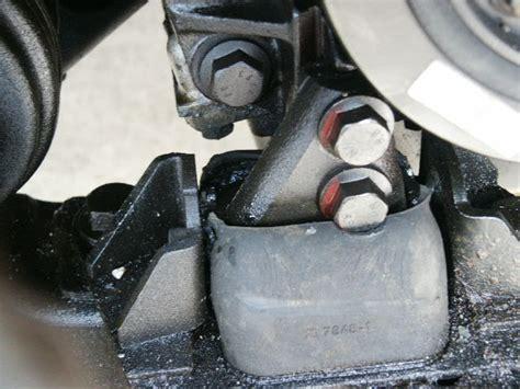 cracking upper engine mount bushing   safe  drive