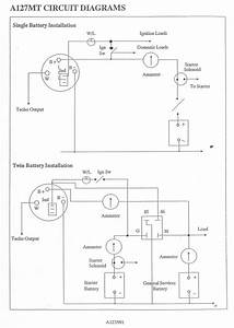 Lucas A127 Alternator Wiring Diagram