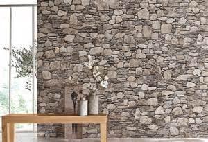 steinwand wohnzimmer befestigen wandtapete eurographics stein optik kaufen otto