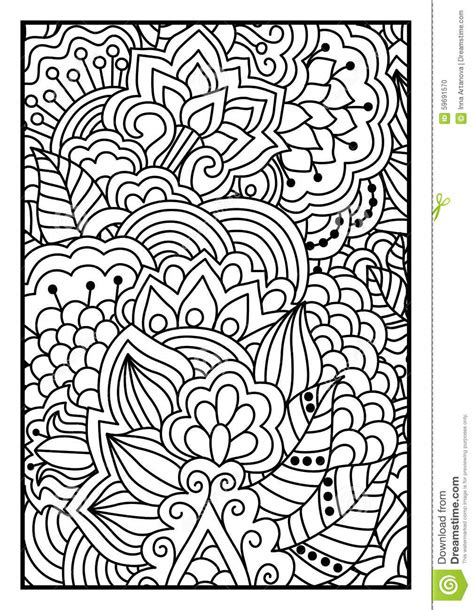 floral pattern  coloring book stock vector image