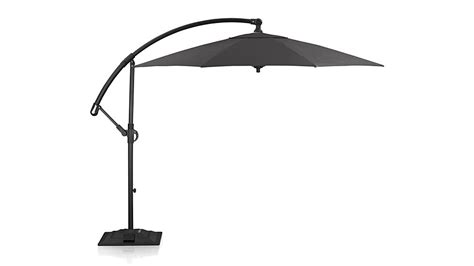 10 black cantilever umbrella frame with base in