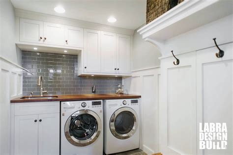 Cheap Renovation Ideas For Kitchen - laundry room mudroom renovation novi mi labra design build