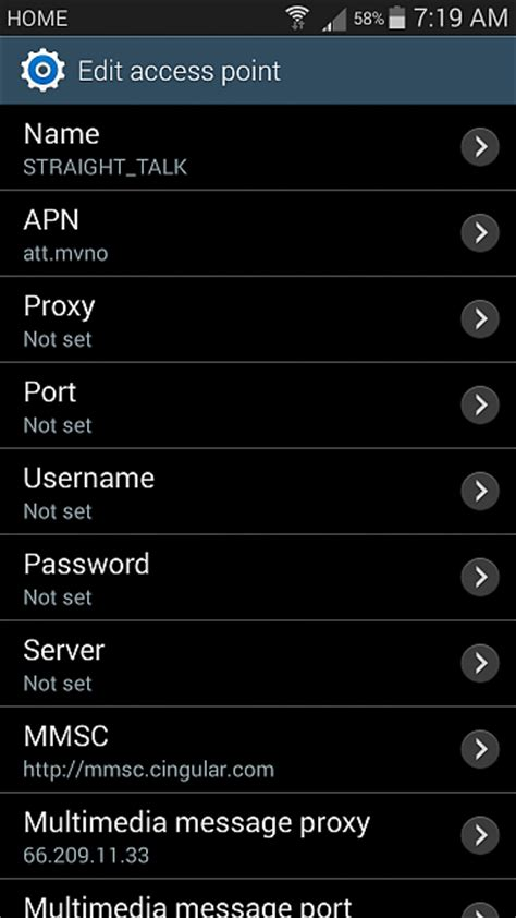 talk apn settings android talk apn settings android forums at