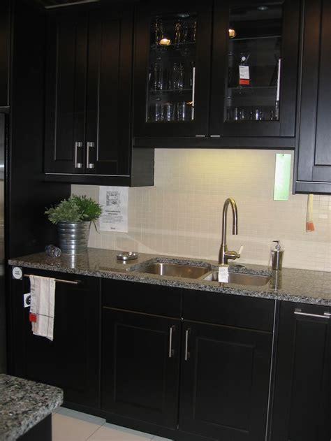 Ikea Espresso Kitchen Cabinets by Ikea Ramsjo Kitchen Bottom Cabinets W Light Quartz