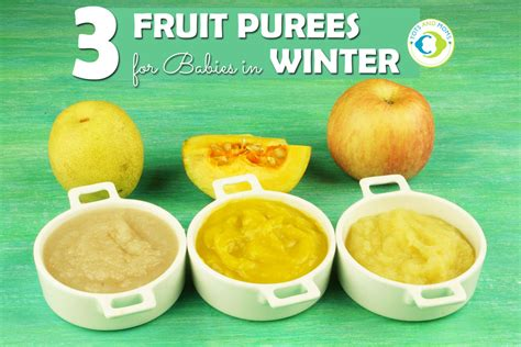 3 Fruit Purees For Babies Tots And Moms