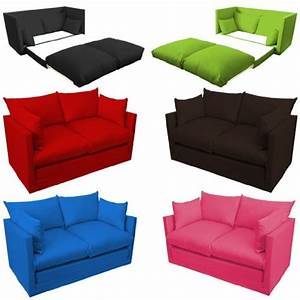 Comfortable fuchsia pink childrens kids 100 cotton drill for 2 seater pull out sofa bed
