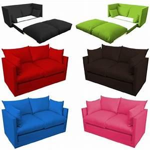 Kindersessel Mit Schlaffunktion : ausklappbar kinder schlafsofa zweisitzer versch farben ~ Indierocktalk.com Haus und Dekorationen