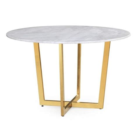 gold round dining table glossy gold white marble round dining table