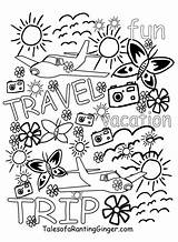 Pages Colouring Travel Adults Printable Colour Coloring Adult Activities Talesofarantingginger Printables Travels Mind sketch template