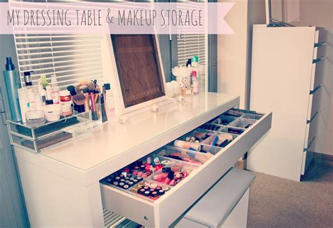My Makeup Storage // Ikea Malm Dressing Table