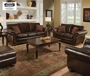 Santa Monica Traditional Bonded Leather Living Room ...