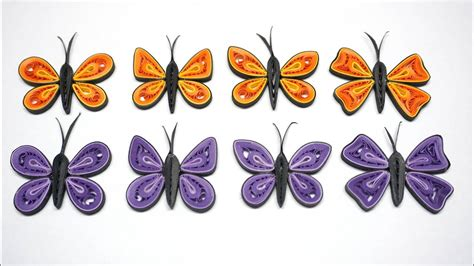 quilling simple butterfly tutorial como hacer mariposa