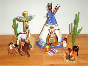 Zelt Der Indianer : playmobil indianer dorf mit blauem zelt und totem ebay ~ Watch28wear.com Haus und Dekorationen