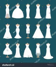 different types of wedding dresses set different styles wedding dresses fashion stock vector 282434117