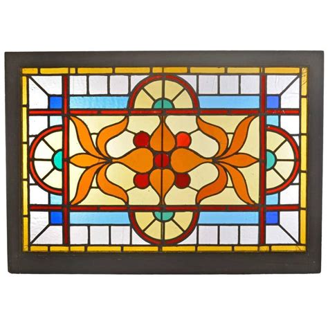 stained glass ls for sale victorian stained glass window with vivid flashed glass at