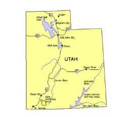 Utah Major Cities Map