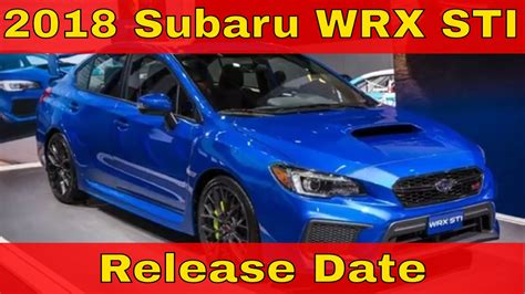 Hot News 2018 Subaru Wrx Sti Release Date