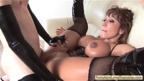 Busty Milf Anal Fucked By Sexy Shemale Zb Porn