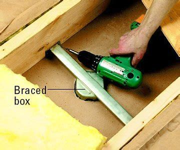 how to install a ceiling fan box without attic access how to install a ceiling fan bob vila