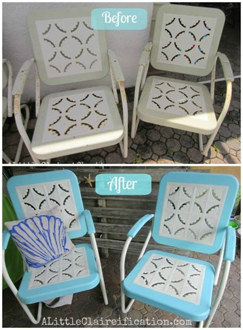 metal patio furniture makeover patio furniture makeover