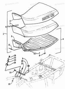 Arctic Cat Atv 2000 Oem Parts Diagram For Seat Assembly