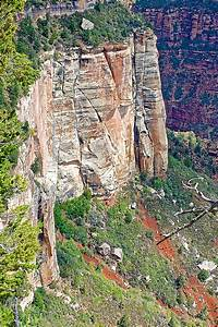 Steep Cliff Seen From Bright Angel Point Trail On North ...