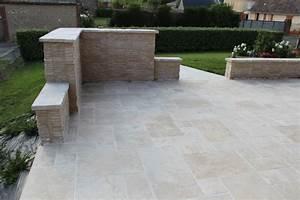 Terrasse Avec Muret : cr ation de terrasse en pierre paysagiste chartres ~ Premium-room.com Idées de Décoration