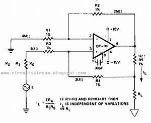 simple bilateral current source circuit diagram With current source circuit with cw117 basiccircuit circuit diagram