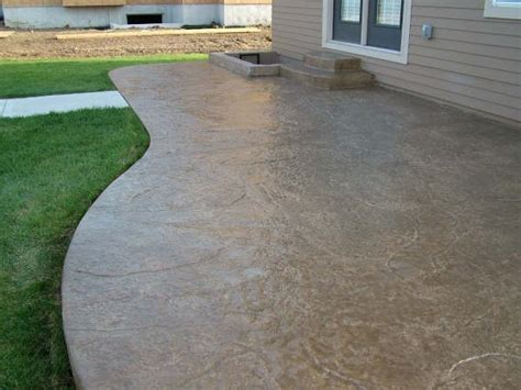 textured concrete patio excavating and concrete construction contractor in lake county oh