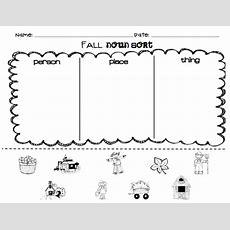 Kindergarten Superkids Fall Noun Sort (free For Followers