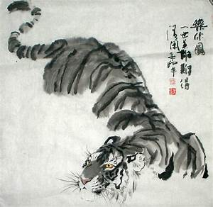 Tiger art - love how it's faded away | Chinese Inks/Sumi-e ...