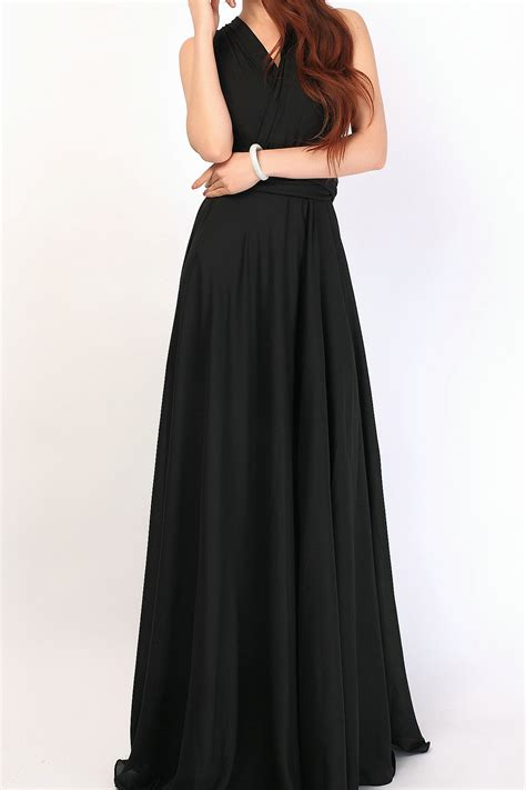 Black long chiffon overlay chiffon skirt [chiffon-002] - $41.50  Infinity Dress | Convertible ...